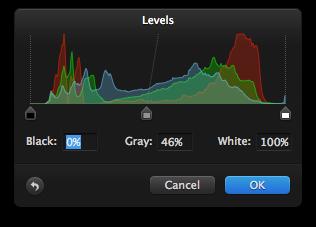 Pixelmator Levels