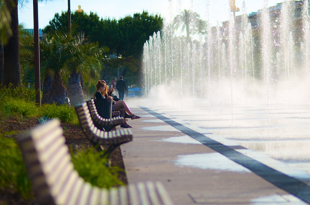 Nizza Springbrunnen